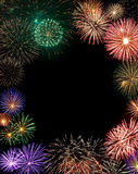 Fireworks frame with copy space in the center Stock Images