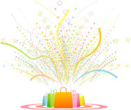 Fireworks, gifts Stock Photography