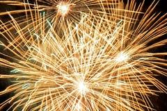 fireworks golden Στοκ φωτογραφία με δικαίωμα ελεύθερης χρήσης
