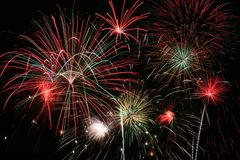 Fireworks Grand Finale. Colorful Fireworks for the Grand Finale Stock Image