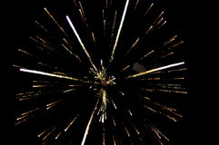 Fireworks on Guy Fawkes night in New Zealand Royalty Free Stock Images