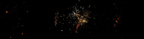 Fireworks on Guy Fawkes night in New Zealand Stock Images