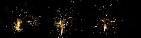 Fireworks on Guy Fawkes night in New Zealand Royalty Free Stock Photography