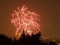Fireworks on the Guy Fawkes Night Stock Photos