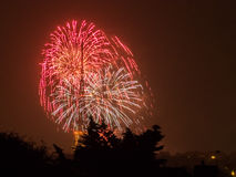 Fireworks on the Guy Fawkes Night Royalty Free Stock Photography