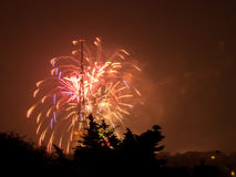 Fireworks on the Guy Fawkes Night Stock Images