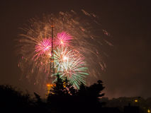 Fireworks on the Guy Fawkes Night Royalty Free Stock Images