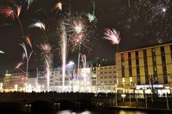 Fireworks in Hamburg 2013 Stock Images