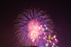 Fireworks at Hanoi Stock Image