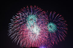 Fireworks at Hanoi Royalty Free Stock Photography