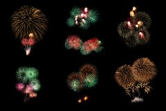 Fireworks. For happy new year Royalty Free Stock Photography