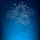 Fireworks and happy new year. 2017 Royalty Free Stock Images