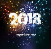 Fireworks for happy new year 2018.  Stock Photos