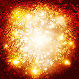 Fireworks. Happy New Year fireworks background Stock Images