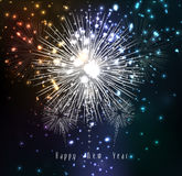 Fireworks for happy new year. Beautiful Vector Fireworks for happy new year Royalty Free Stock Image