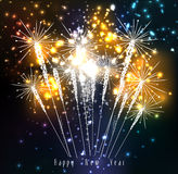 Fireworks for happy new year. Beautiful Vector Fireworks for happy new year Stock Image