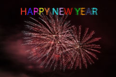 Fireworks. Happy New Year Fire works Curacao Royalty Free Stock Image