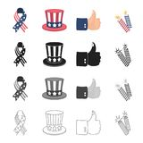 Fireworks, holiday, celebration and other web icon in cartoon style.Cuffs, sign, firecrackers icons in set collection. Fireworks, holiday, celebration and other Royalty Free Stock Images