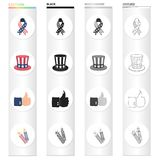 Fireworks, holiday, celebration and other web icon in cartoon style.Cuffs, sign, firecrackers icons in set collection. Fireworks, holiday, celebration and other Royalty Free Stock Photos