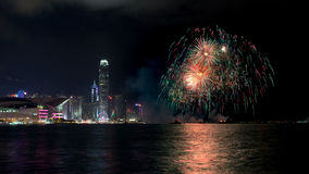 Fireworks at Hong Kong Stock Photos
