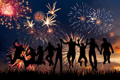 Fireworks in honor of holiday Royalty Free Stock Photos