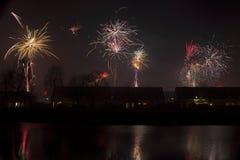 Fireworks in Hoogeveen Stock Images