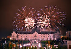 Fireworks in Iasi Royalty Free Stock Photos