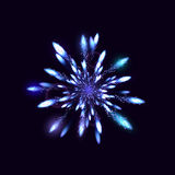 Fireworks from ice on dark background. Vector illustration Royalty Free Stock Photography