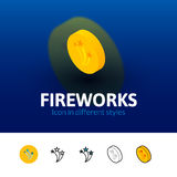 Fireworks icon in different style Stock Images