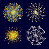 Fireworks  icon  Stock Photography