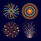 Fireworks  icon. Festive firework bursting shape firework pictograms . Firework abstract  isolated illustration and party fun firework celebration holiday  sign Stock Photography