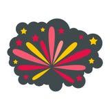 Fireworks icon, flat style Royalty Free Stock Image