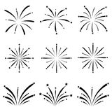 Fireworks icon set. The fireworks of icon set Royalty Free Stock Photography