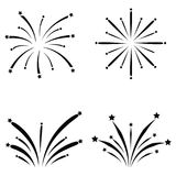 Fireworks icon set. The fireworks of icon set Stock Images