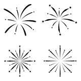 Fireworks icon set. The fireworks of icon set Royalty Free Stock Image