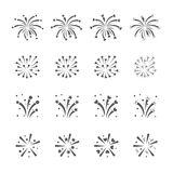 Fireworks icon set. /16 vector for design Stock Photos