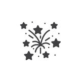 Fireworks icon vector, filled flat sign, solid pictogram isolate Royalty Free Stock Photo