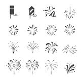 Fireworks icon Royalty Free Stock Photos