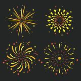 Fireworks icons set. Icon vector illustration graphic design Royalty Free Stock Photo
