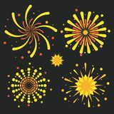 Fireworks icons set. Icon vector illustration graphic design Stock Photography
