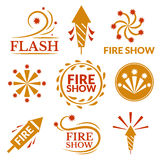 Fireworks icons vector illustration Stock Photos