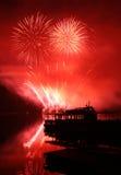 Fireworks Ignis Brunensis stock image