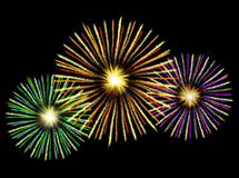 Fireworks illustration. Illustration of fireworks exploding in the night sky Royalty Free Stock Images