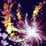 Fireworks illustration. Event celebration background Stock Images