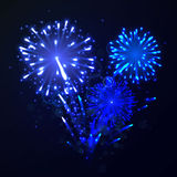 Fireworks. Illustration of a colorful Fireworks Stock Photography
