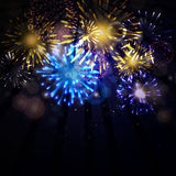 Fireworks. Illustration of colorful Fireworks on dark background Royalty Free Stock Photos
