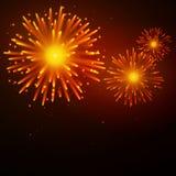 Fireworks. Illustration of colorful Fireworks on dark background Stock Image