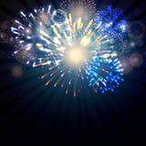 Fireworks. Illustration of Fireworks on a dark background Stock Photography