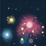 Fireworks. An illustration of a firework at new year´s eve Royalty Free Stock Photo