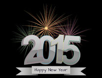 2015 fireworks. Illustration of 2015 happy new year with colorful fireworks Vector Illustration
